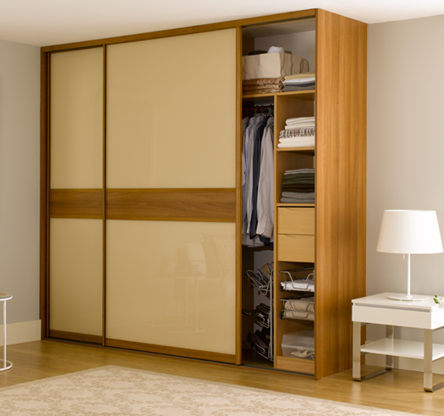 Wooden sliding wardrobe hpd434 sliding door wardrobes for D i y bedroom cupboards