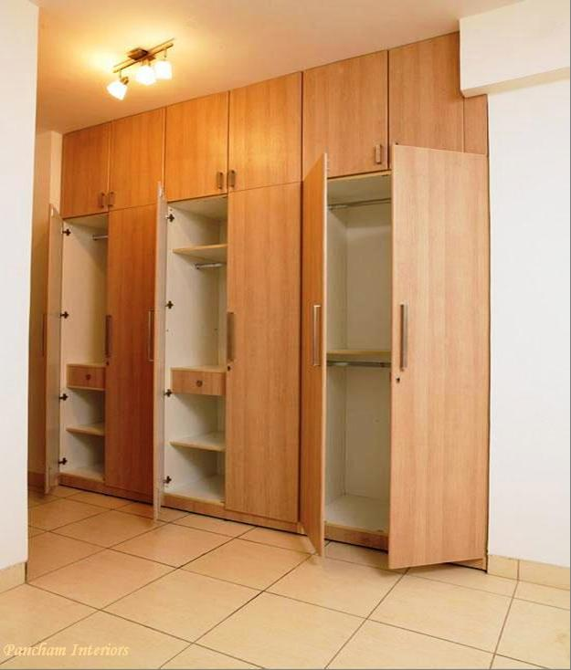 5 doors wooden wardrobe hpd441 fitted wardrobes al for Kitchen wardrobe design