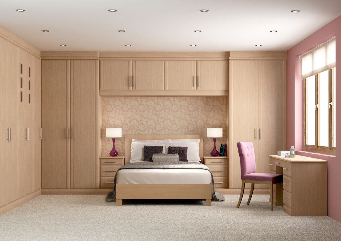 Fitted wardrobes side and study table hpd312 fitted for Bedroom built in wardrobe designs