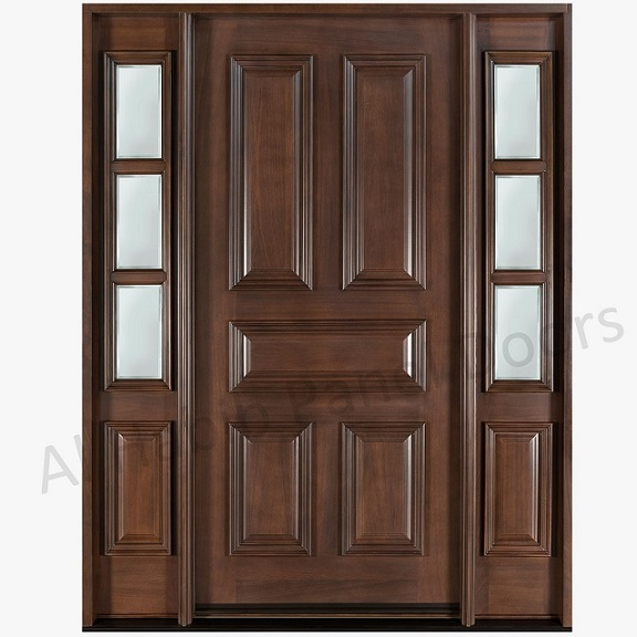 Dayar Wooden Front Door Hpd458 Solid Wood Doors Al