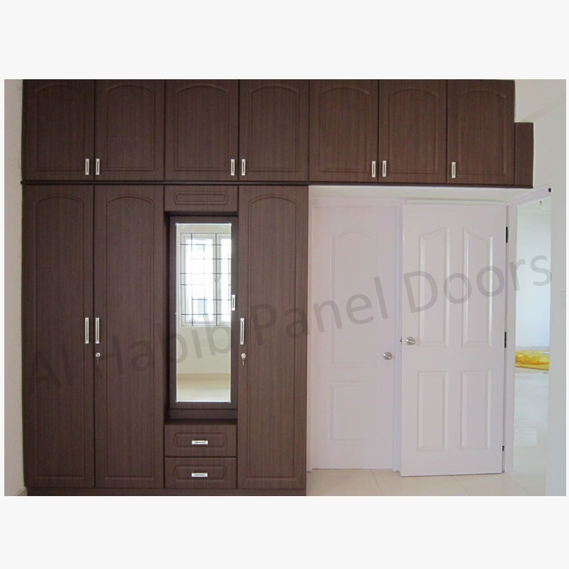 5 doors wooden wardrobe hpd441 - fitted wardrobes - al habib panel
