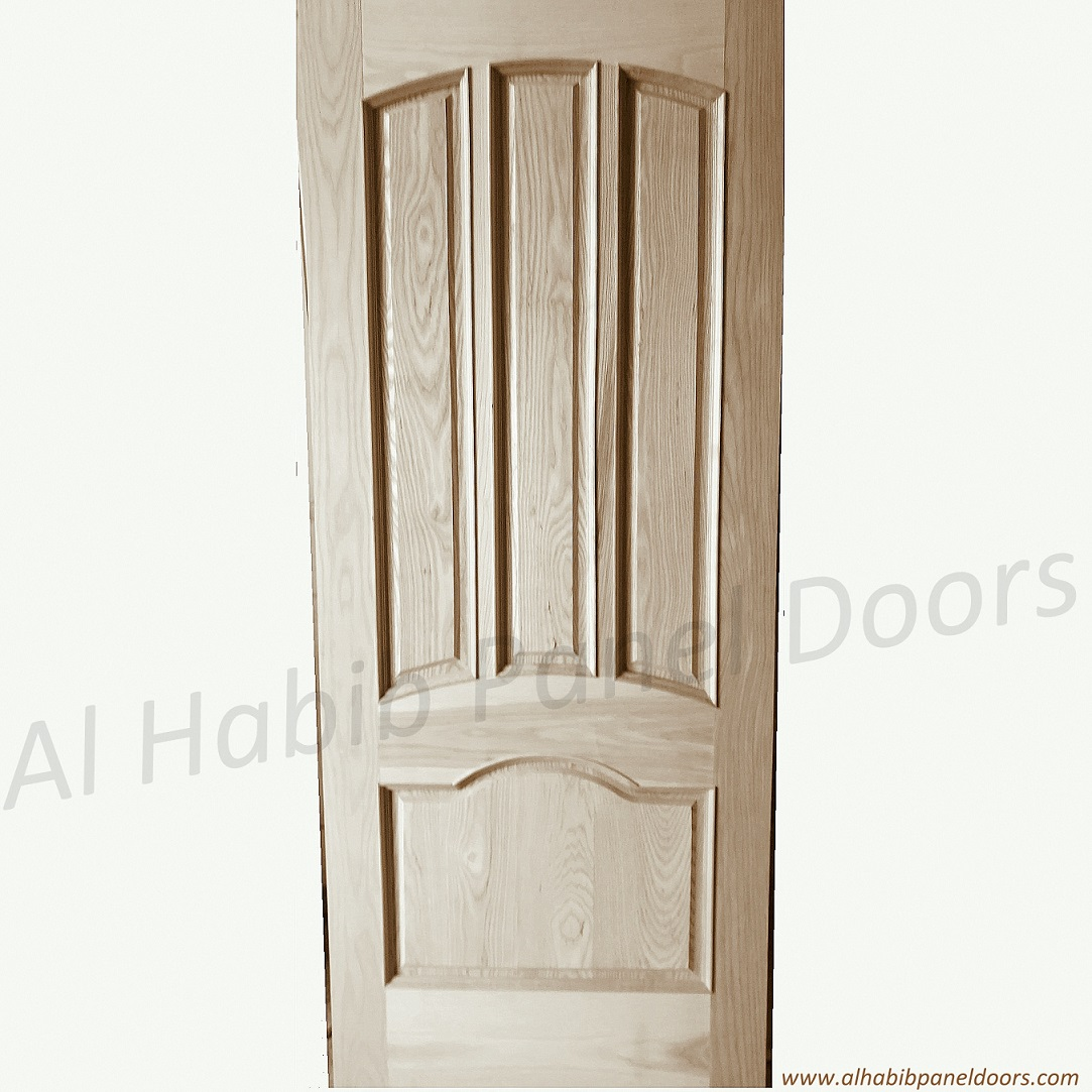 Four Panel Solid Door With Sides Glass