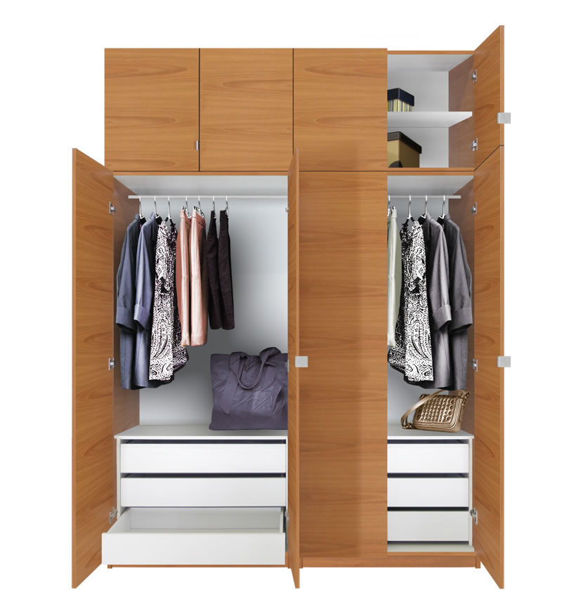 2017 Modern Simple Closet Wooden Designs In Bedroom Wall: Free Standing Wardrobes Hpd316