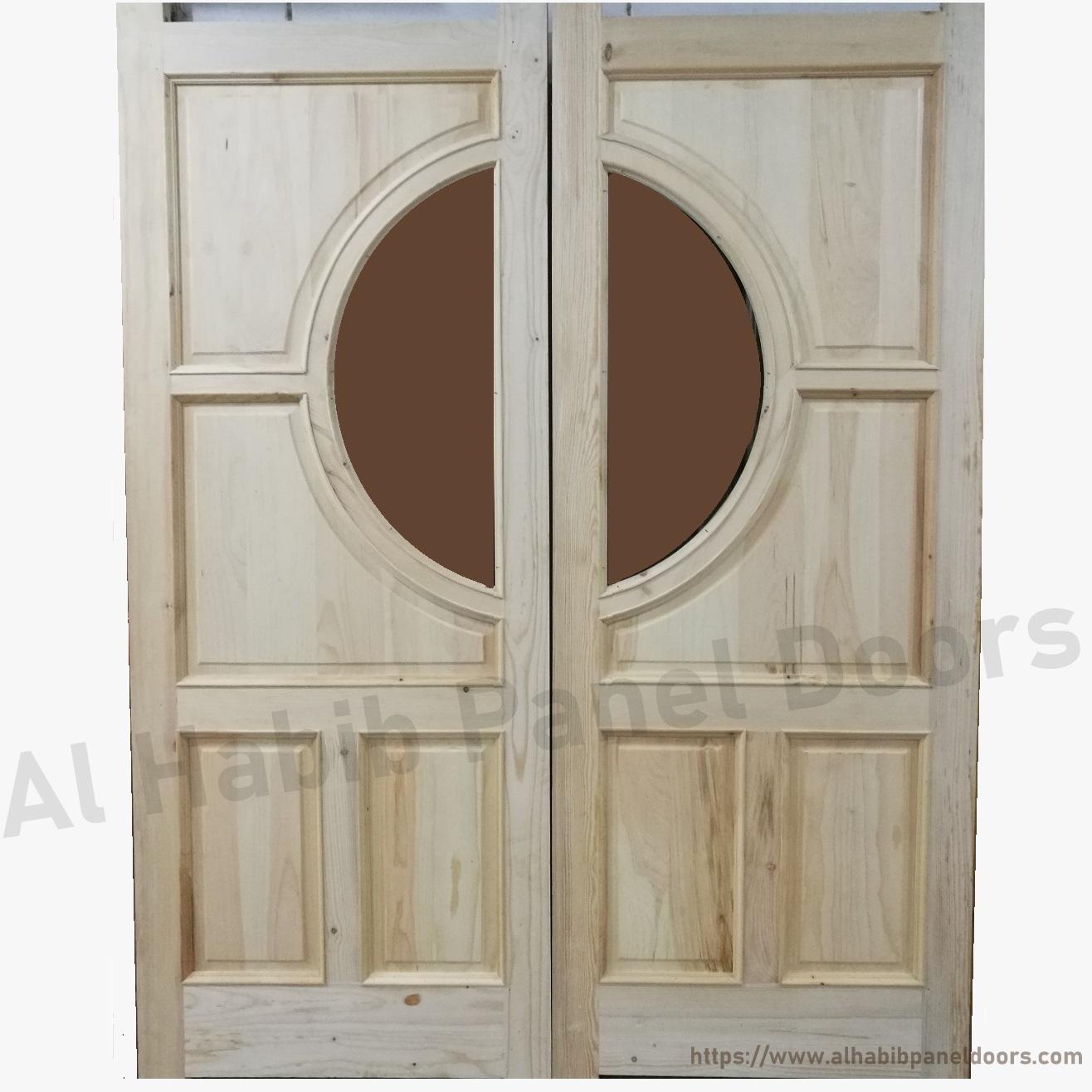 Glass Wooden Door With Frame Hpd480 Glass Panel Doors