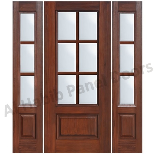 Captivating wooden frame doors photos ideas house design for Glass door frame