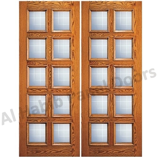 Glass Wooden Double Door