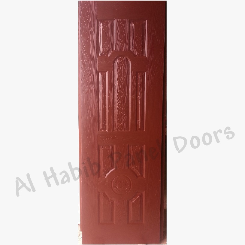 Half Capsule Choco Brown Fiberglass Door