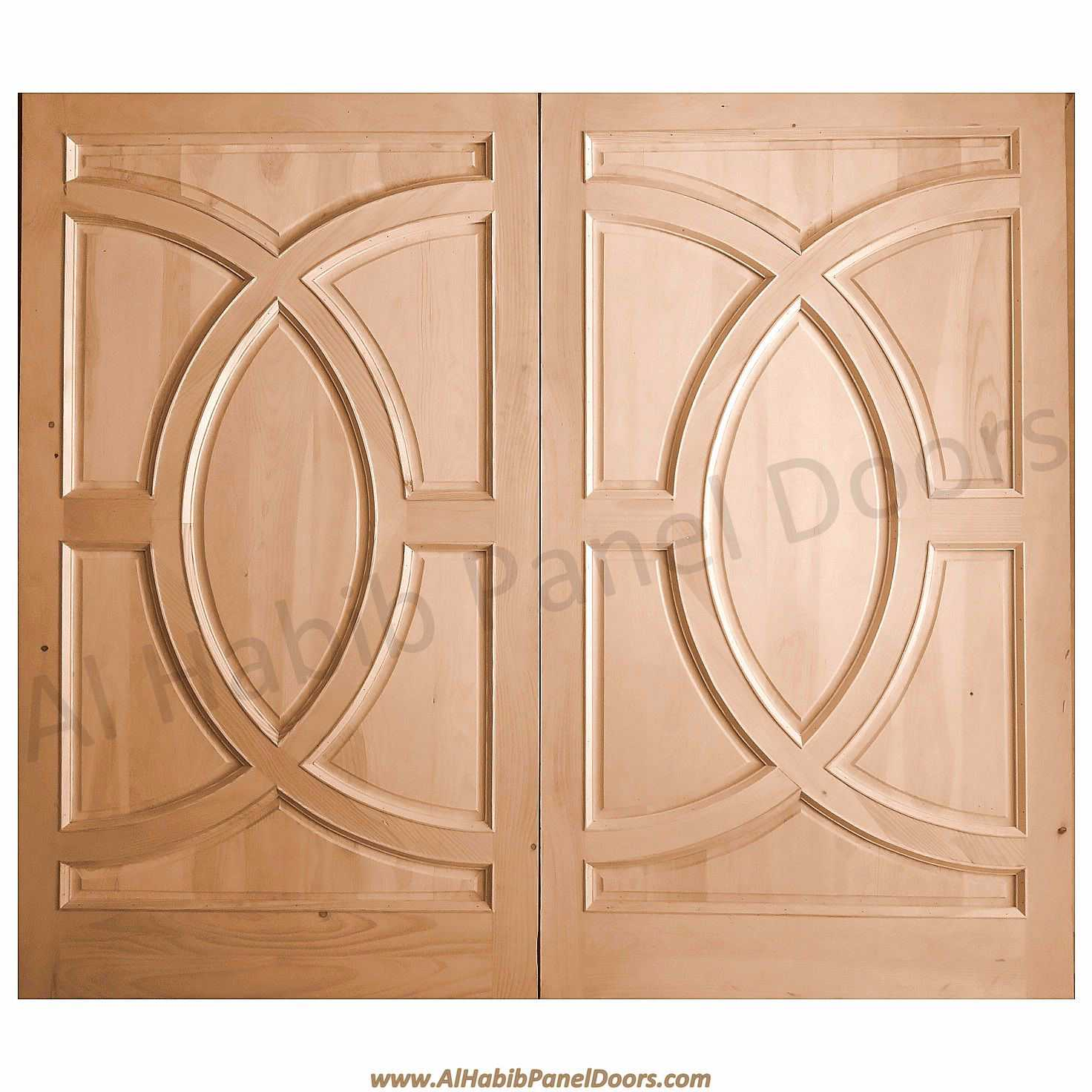 Pakistani kail solid wood double door hpd410 main doors for Wooden double door designs for main door