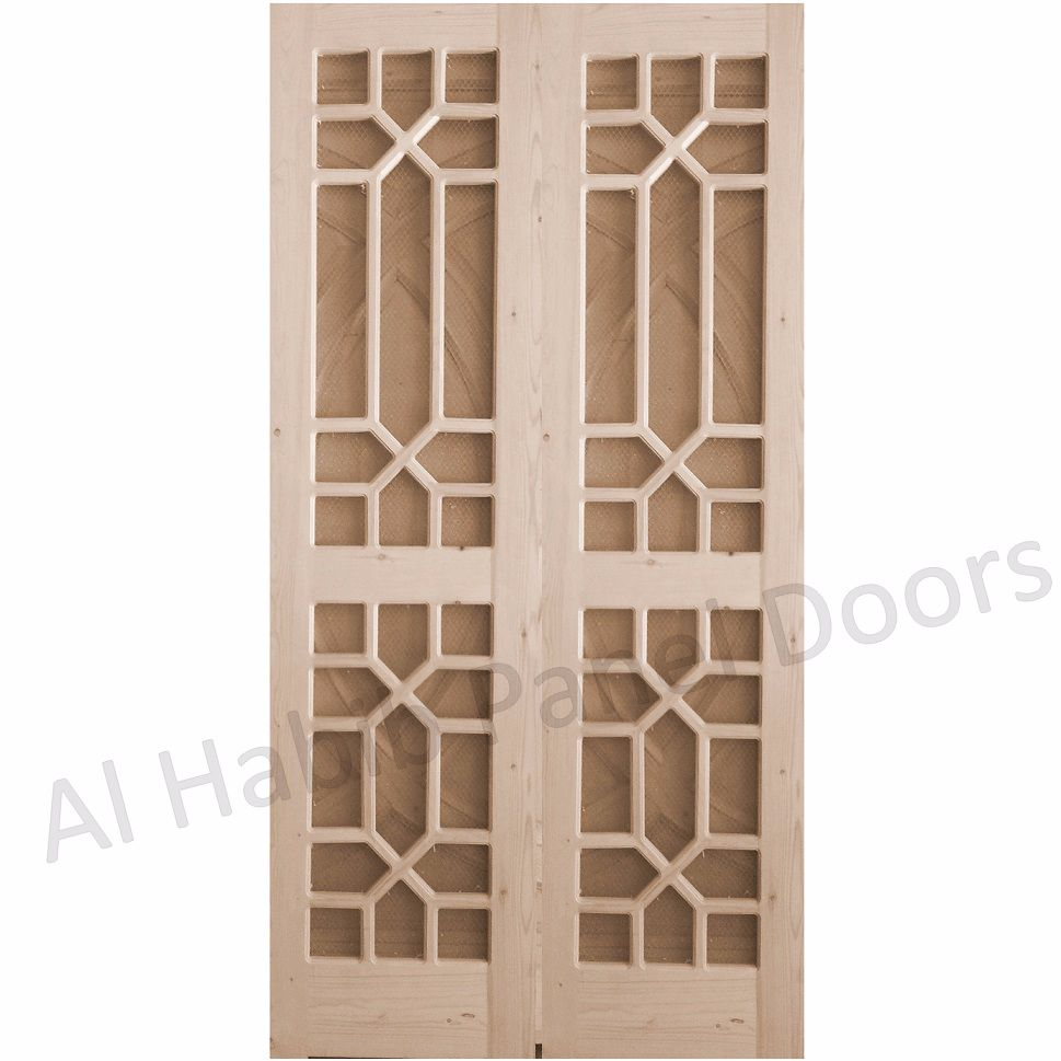 Kail wood wire mesh door hpd523 mesh panel doors al for Door pattern design