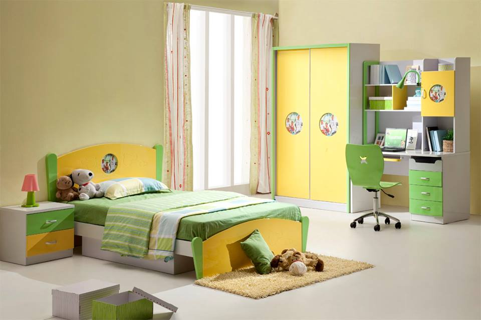 Kids Bed Study Table Wardrobes