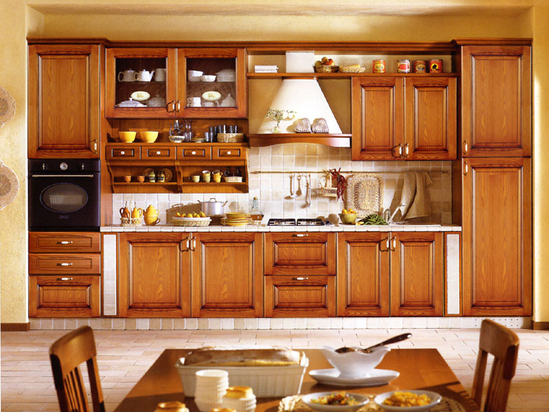 Laminated kitchen cabinets hpd352 kitchen cabinets al for Traditional indian kitchen pictures