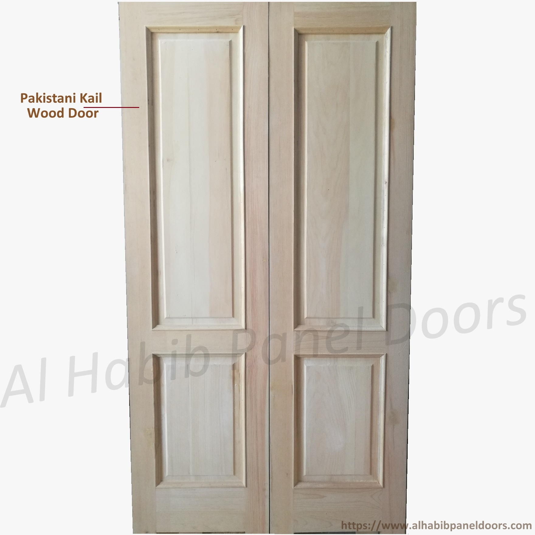 Local Kael Wood Main Door Two Panel