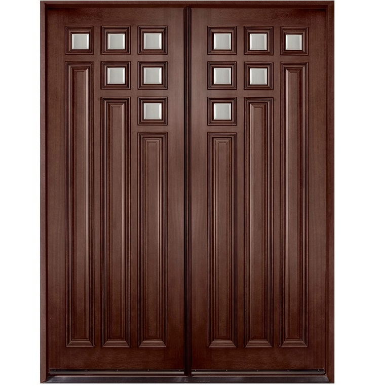 Pakistani kail solid wood double door hpd410 main doors for Front door designs in sri lanka