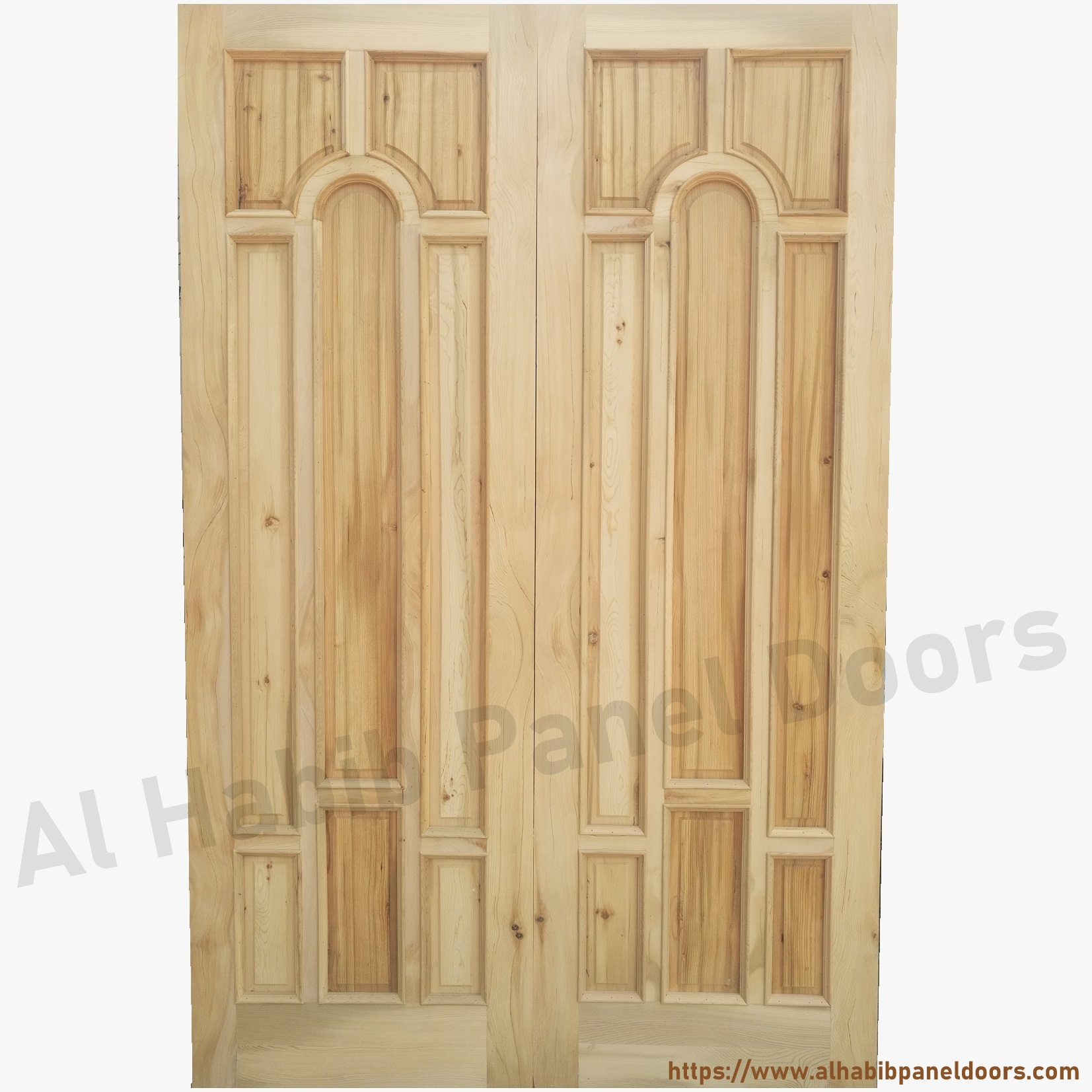 Main double door hpd329 main doors al habib panel doors for Main door design of wood