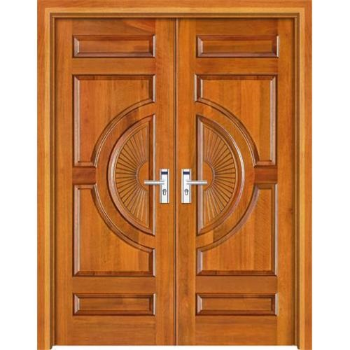 Solid Wood Main Double Door