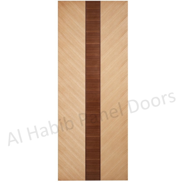 Oak With Teak Inset Ply Paste Door