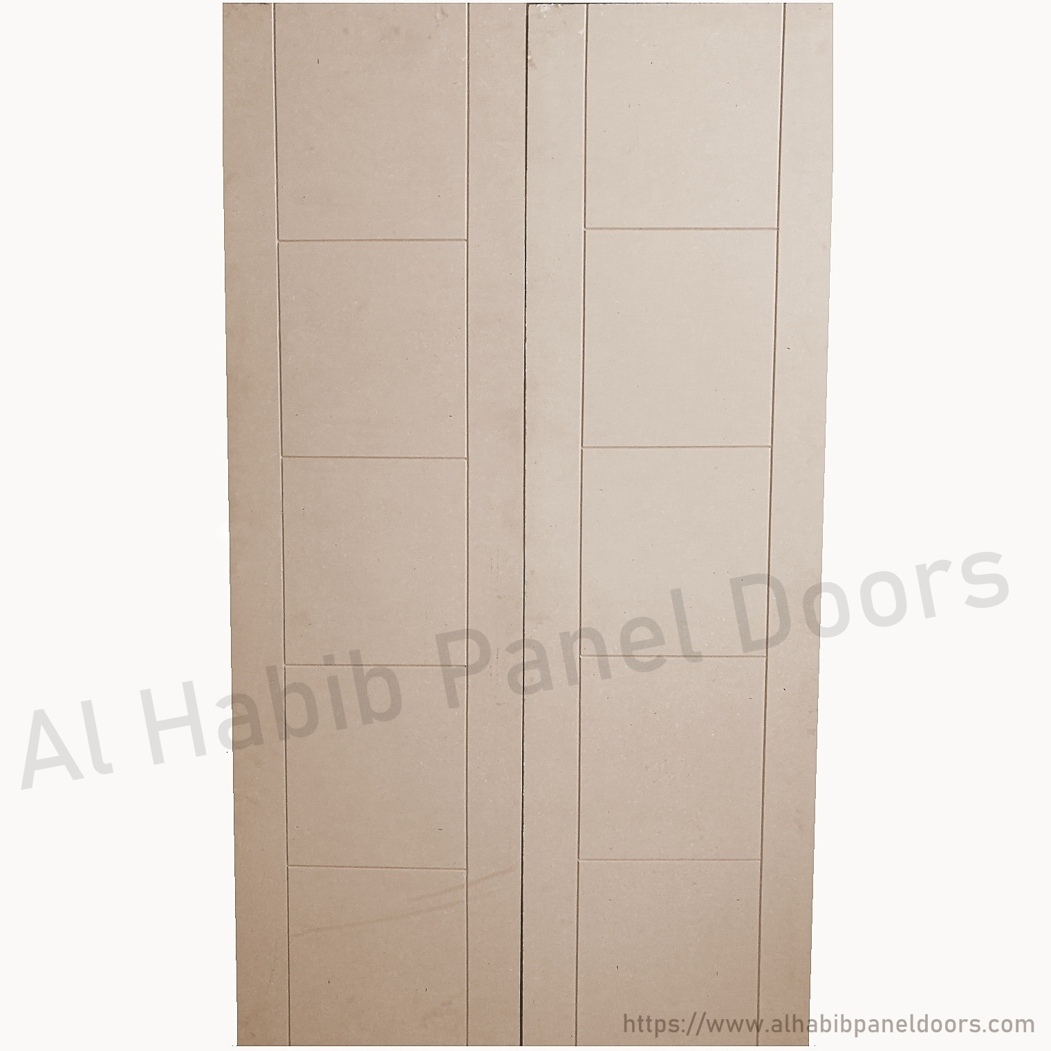 Plain Mdf Double Door Grooves Design