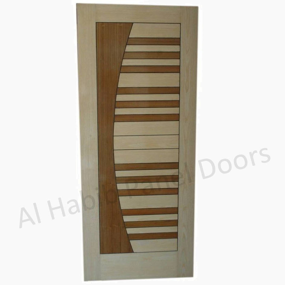 Ply Pasting Moon Stripes Door