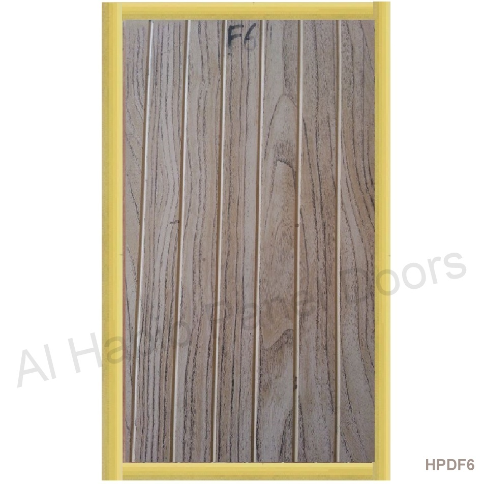 PVC Laminated Door Oak Grains Color F6