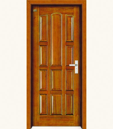 Product of Doors   Solid     Solid Wood Single Door. Ash Solid Wood Door Hpd334   Solid Wood Doors   Al Habib Panel Doors
