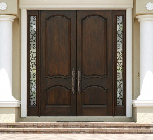 Diyar solid wood main double door hpd412 main doors al for Solid wood entry doors
