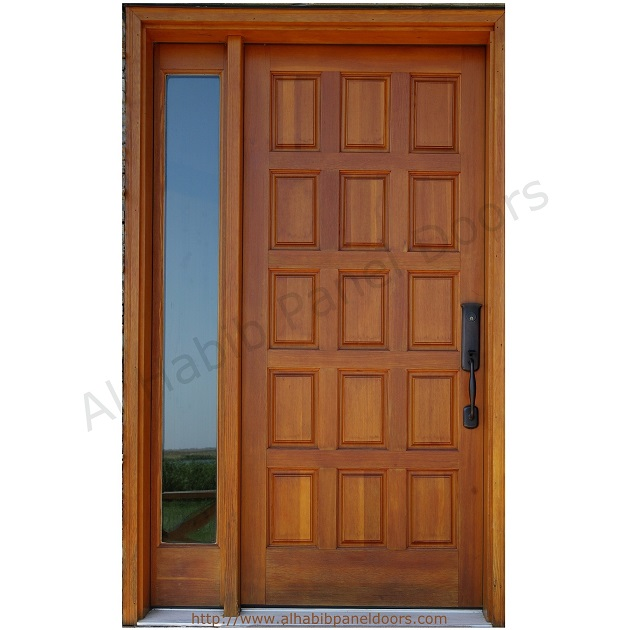 Solid Wooden Panel Door With Frame