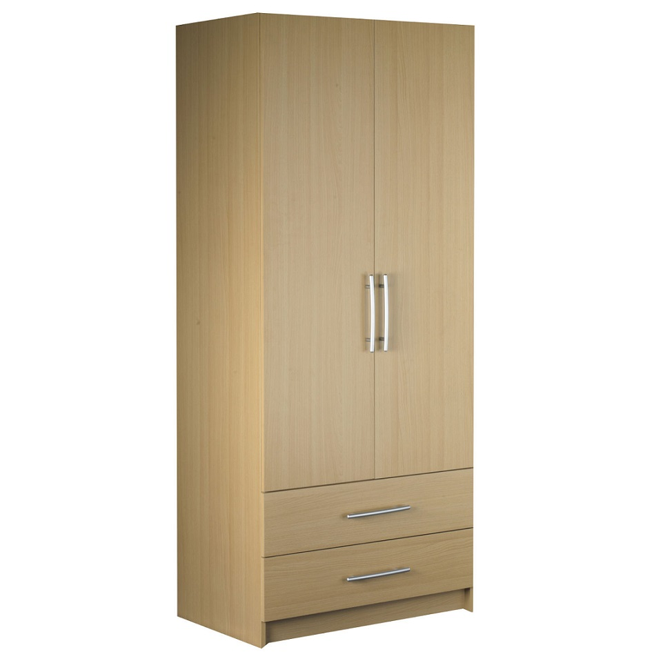 Standing 2 door 2 drawer door wardrobe hpd320 free for Cupboard and drawers