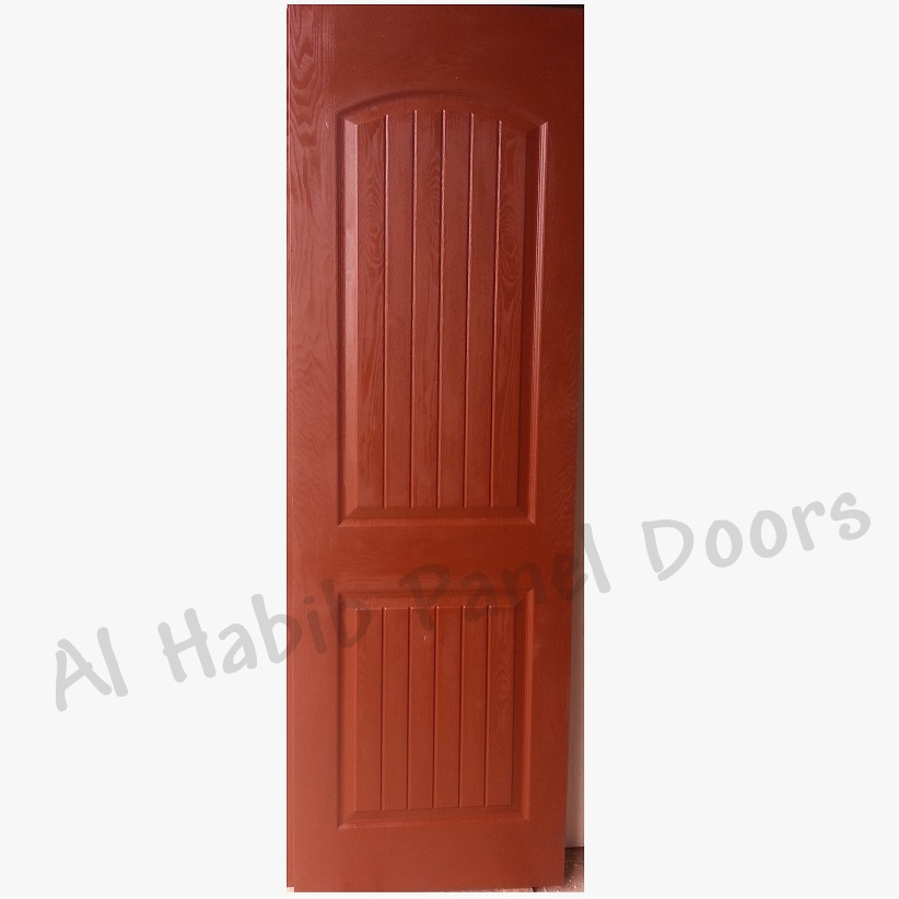 Teak Wood Fiberglass Two Panel Door