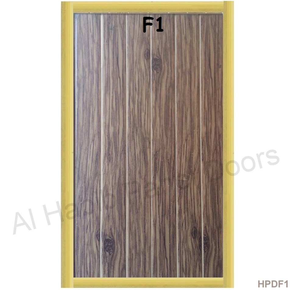 UPVC Laminated Plastic Door Color F1