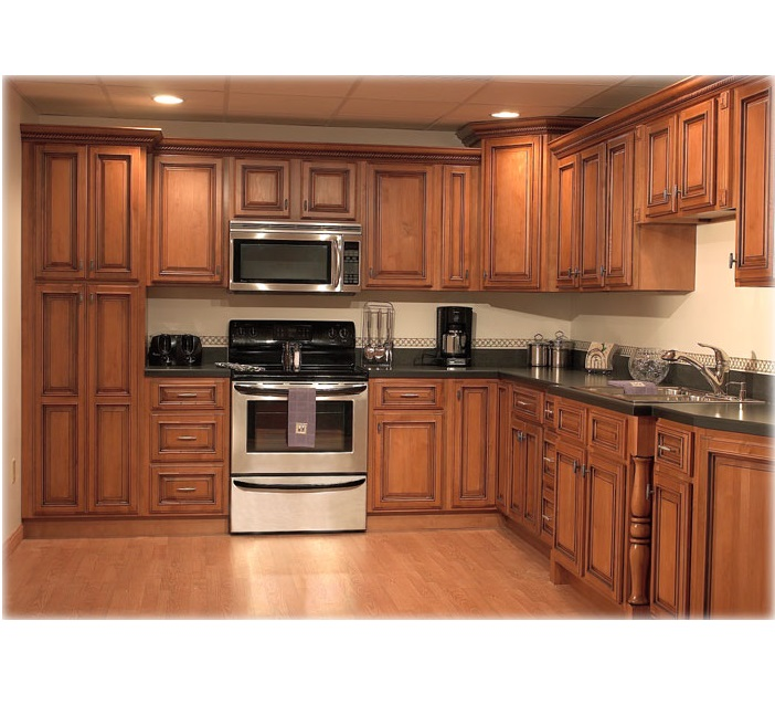 Wooden kitchen cabinet hpd455 kitchen cabinets al for Wooden kitchen cupboards