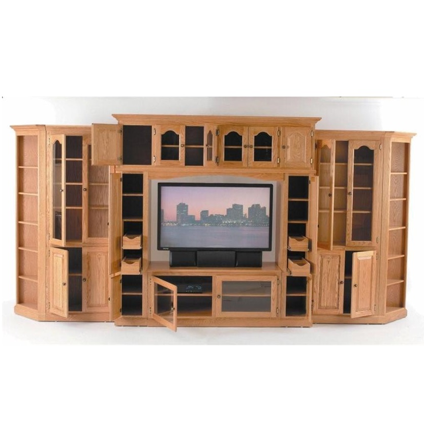 Wooden lcd tv cabinets hpd442 lcd cabinets al habib Tv panel furniture design