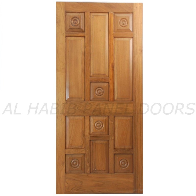 Single solid wood door hpd102 solid wood doors al for Wooden entrance doors